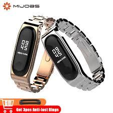 <b>Mijobs Mi Band 4</b> Metal Wrist Strap Stainless Steel for Xiaomi Mi ...