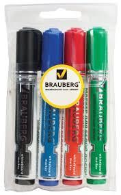 <b>BRAUBERG Маркеры</b> для доски <b>Neo</b>, 4 шт. (150491) купить по ...