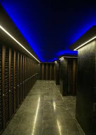 residential wine cellar built in wooden integrated lighting trump towers istanbul focus cellar lighting