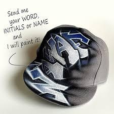 CUSTOM Snapback, Graffiti NAME hat, flat peak cap ... - Amazon.com