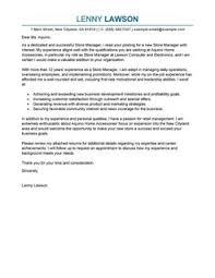 best store manager cover letter examples   livecareerstore manager cover letterprofessional  design