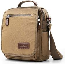 <b>XINCADA</b> Mens Bags <b>Vintage Canvas</b> Portable <b>Shoulder</b> Business ...