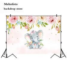 Mehofoto Fireplace Elephant Animal <b>Photography</b> Backdrop Flower ...