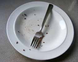 Image result for empty plate with crumbs