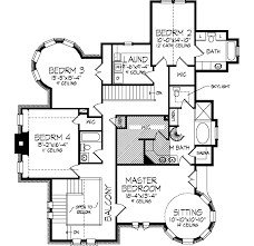 Kirkland Old World Home Plan D    House Plans and MoreLuxury House Plan Second Floor   D    House Plans and More