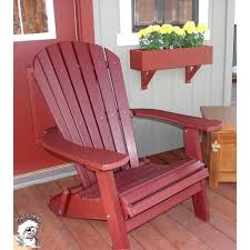 PHAT TOMMY Recycled Polywood Deluxe Folding Adirondack Chair  O