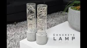 DIY Concrete <b>Lamp</b> | <b>LED String Lights</b> - YouTube