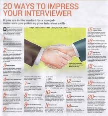 ways to impress your interviewer job search infographics 20 ways to impress your interviewer