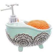 """<b>Дозатор</b> для моющего средства с губкой """"Ванна голубая ..."""