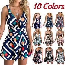 <b>Summer Fashion Women</b> Chest Bowknot Floral Jumpsuit <b>Printed</b> ...