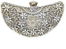 HUIfenghe <b>Women's Luxury</b> Diamond Flower Moon Shape Evening ...