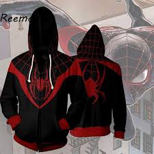 Online Shop Marvel Movie <b>Spiderman</b> Cosplay Top <b>Coat</b> For Men ...