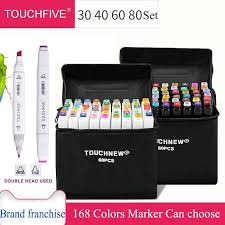 <b>TOUCHFIVE 30/40/60/80 Color Professional</b> Art Marker For Manga ...