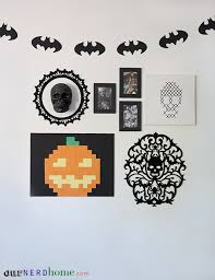 halloween gallery wall decor hallowen walljpg diy geeky halloween decorations this is our living room wall