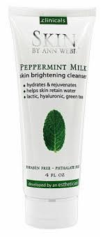 Skin by Ann Webb <b>Skin Brightening Cleanser Peppermint</b> Milk, 4 fl oz