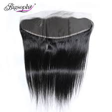 <b>Bigsophy Peruvian</b> Straight Wave Closure 13*4 Human <b>Hair</b> Lace ...