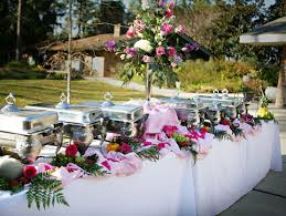 Image result for buffet table with flowers