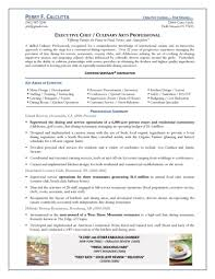 chef resume example improved housekeeping standards template microsoft
