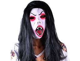 Ucoolbila <b>Halloween</b> Horror <b>Mask</b> with Hair <b>Grimace</b> Ghost Horrific ...
