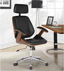 Armen Living Century Office Chair in Black Faux ... - Amazon.com