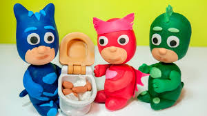 masks bathroom accessories set personalized potty: pj masks play doh episodes toilet training owlette gekko and catboy with peppa pig