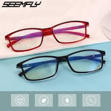 <b>2019 Seemfly</b> Anti Blue Light Finished Myopia Glasses Retro ...