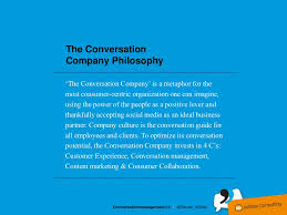 the conversationcompany philosophy the conversation company