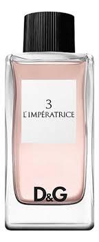 <b>Dolce Gabbana</b> (<b>D&G</b>) <b>3 L</b>'<b>Imperatrice</b>