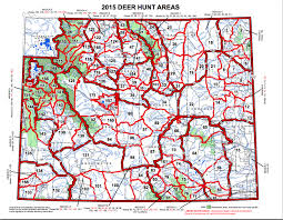 wildlife sierra club map of wyoming s deer hunting areas