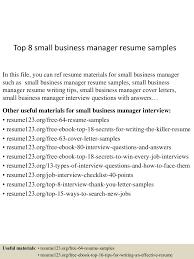 topsmallbusinessmanagerresumesamples lva app thumbnail jpg cb