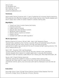 Professional Cleaning Supervisor Templates to Showcase Your Talent     My Perfect Resume
