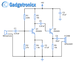 design and construction of 2 stage amplifier circuit diagram using design and construction of 2 stage amplifier circuit diagram using transistors configured as emitter amplifier