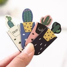 Three Kawaii <b>Cacti Magnetic Bookmarks</b> for Books | Kawaii ...