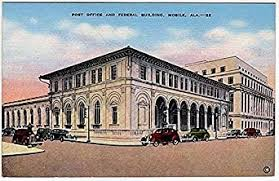 get quotations linen postcardpost office federal buildmobile al amazing build office