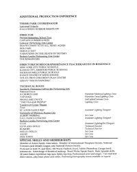 resume cv directing production resume cv