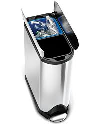 trash kitchen stainless steel stainless steel simplehuman trash cans for your kitchen exciting silve
