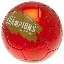 <b>Liverpool FC</b> Champions of Europe Football <b>Signature</b> Soccer Ball