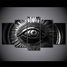 <b>Framed HD Printed Abstract</b> Eye In Car Wheel Picture Home Decor ...