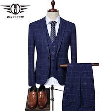 Plyesxale Brand Wool <b>Suit Men</b> 2018 <b>Autumn 4XL</b> Slim Fit Gray ...