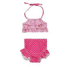 Voberry Kids Baby Girls <b>Striped</b> Dot Print <b>Vest Summer</b> Swimwear ...