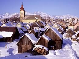 Výsledek obrázku pro dedina v zime