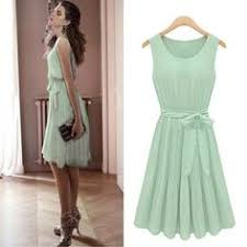 Amazon.com: Size M <b>Women's Sleeveless Light Green</b> Pleated ...