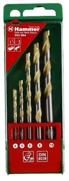 Купить Набор <b>сверл Hammer</b> 202-904 DR set No4, 5 шт. по ...