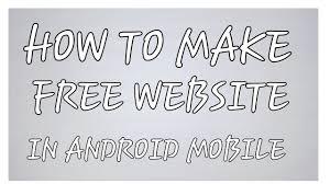 how to make a website how to make a website