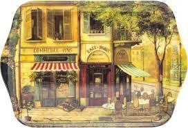 "<b>Поднос</b> сервировочный <b>Gift'n'Home</b> ""Парижское кафе"", 39 х 24 см ..."