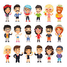 online recruitment blog 10 personality interview questions that loads of different cartoon people in different clothes showing different personalities