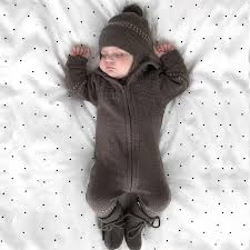 <b>Tinypeople Baby Knitted jumpsuits</b> boys Cotton Plaid Playsuit Winter ...