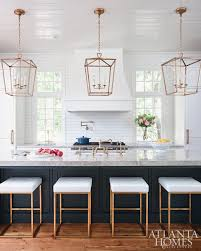 kitchen linear dazzling lights clear ceiling recessed: gorgeous kitchen ideas with large lanterns hanging over island i am so obsessed with this transitional kitchen long island with contemporary stools that