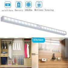 <b>Wireless</b> Motion Sensor <b>20 LEDs</b> Portable Closet <b>Under</b> Cabinet ...