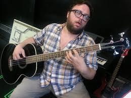 mike myers manu narayan jay klaiitz bart on bass in juggernaut music rehearsal